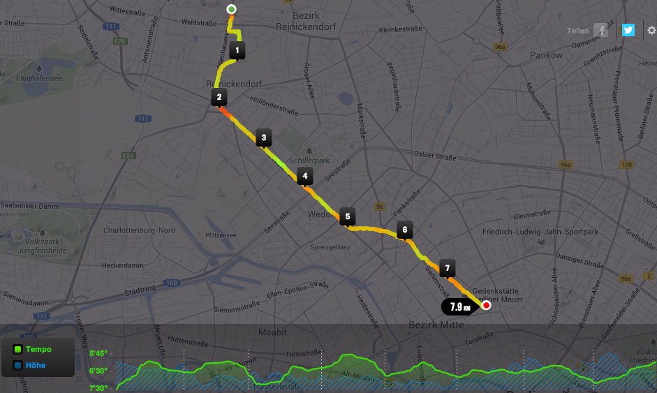 Orientierungslauf mit Nike Running und Google Maps