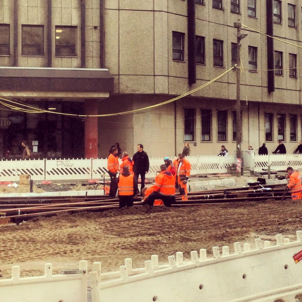 Bauarbeiten Ecke Invalidenstraße / Chausseestraße