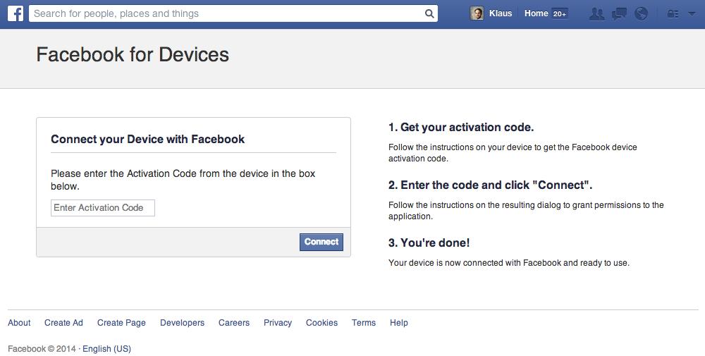facebook.com/device