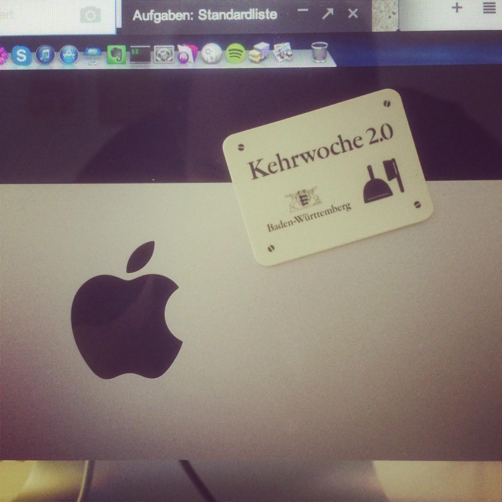 Kehrwoche 2.0 auf einem iMac