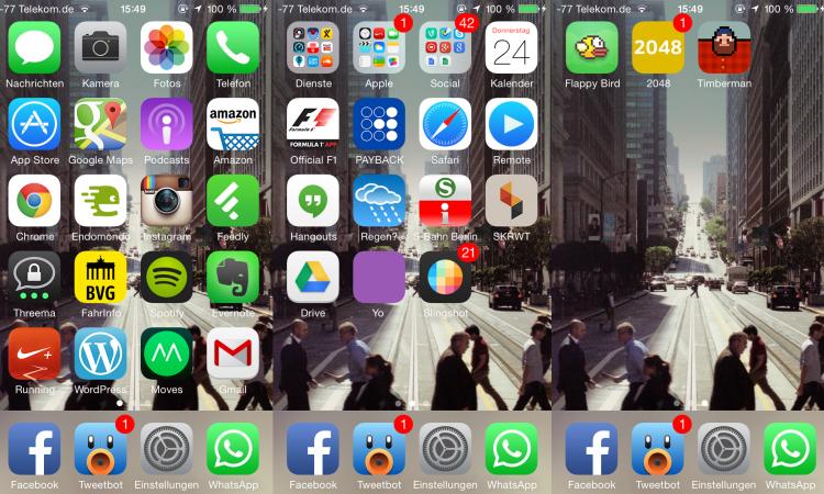 iPhone 5 Homescreen