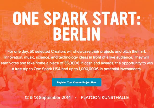 One Spark Crowdfounding Festival Berlin