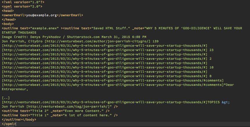 Die .opml Datei im favorisierten Texteditor öffnen und in die Zwischenablage kopieren.