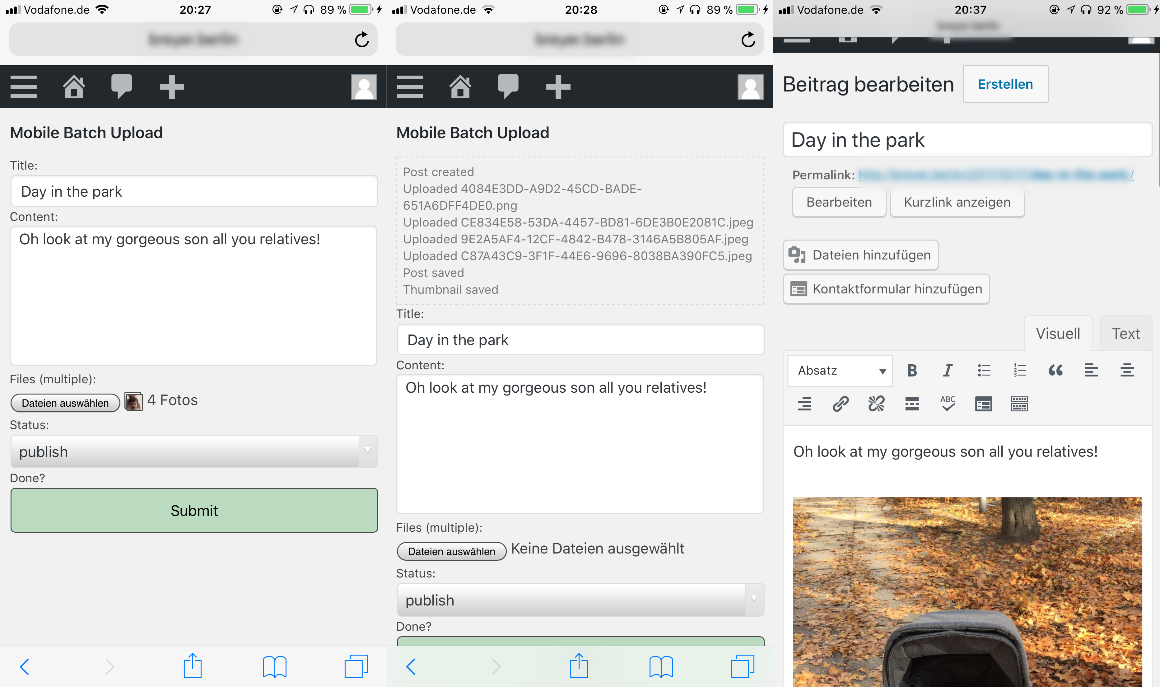 mobile batch upload  u2013 wordpress plugin